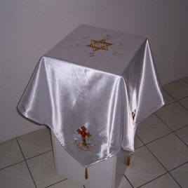 Rosey Cross Cloth with Solar Hexagram