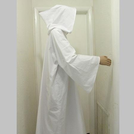 Hooded White Robe 1